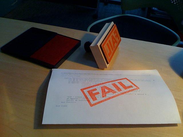 Blog Fail